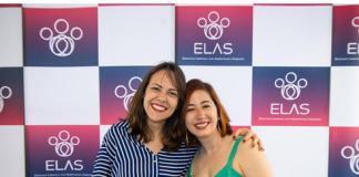 Amanda Gomes e Carine Roos, cofundadoras da ELAS